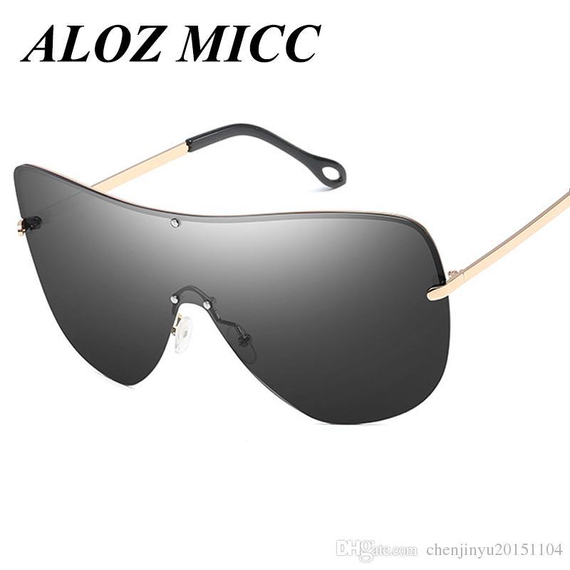 Aloz micc designer sonnenbrille für männer metallrahmen übergroße große polarisierte sonnenbrille frauen super brille integrierte linse uv400 a342