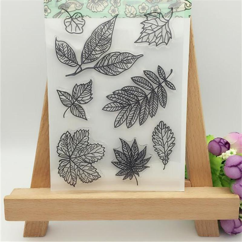 Wholesale Pretty Several Kinds Of Leaves Transparent Clear Stamp ...