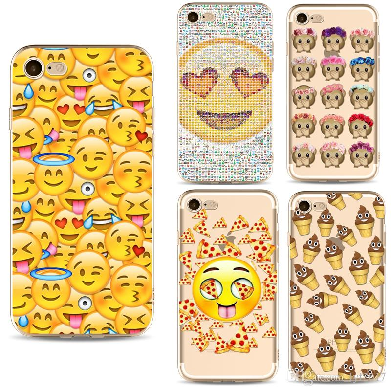 Cell Phone Accessories Cases 2018 fashion Geometry Painting Cute Emoji Pattern Effect Case Cover Defender For iPhone 5S 6 6s plus 7 7Plus