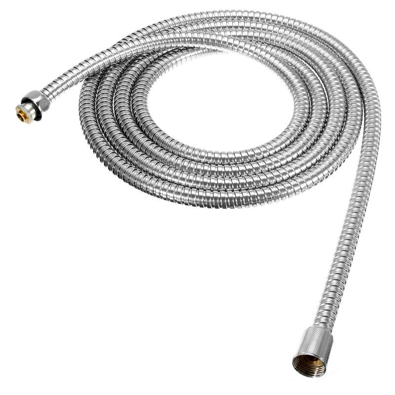 The Best Quality Long Stainless Steel 1/2 inch Bath Shower Flexible Hose Pipe Bathroom Product Easy To Install For 3m Length