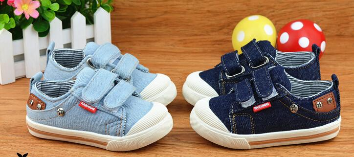21-30 Canvas Children Shoes Sport Breathable Boys Sneakers sky blue Kids for Girls Jeans Denim Casual Child Flat cheap free ship