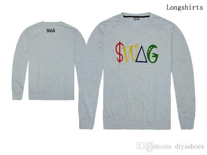 2018 Outono e Inverno new arrival swag especial hip hop homens e mulheres de manga longa t-shirt plus size xxl top quality 100% algodão atacado