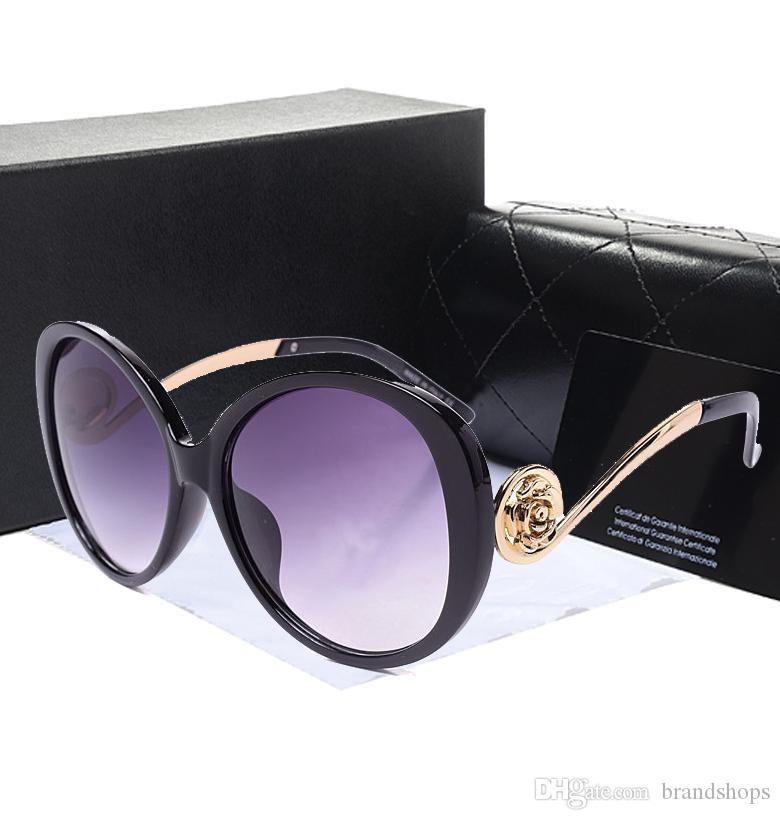 Toptan Roman Gözlüğü Açık marka tasarımcı Gözlük Güneş Gözlüğü lady kadınlar siyah gölge Moda Retro orijinal Fermuar ile kılıf