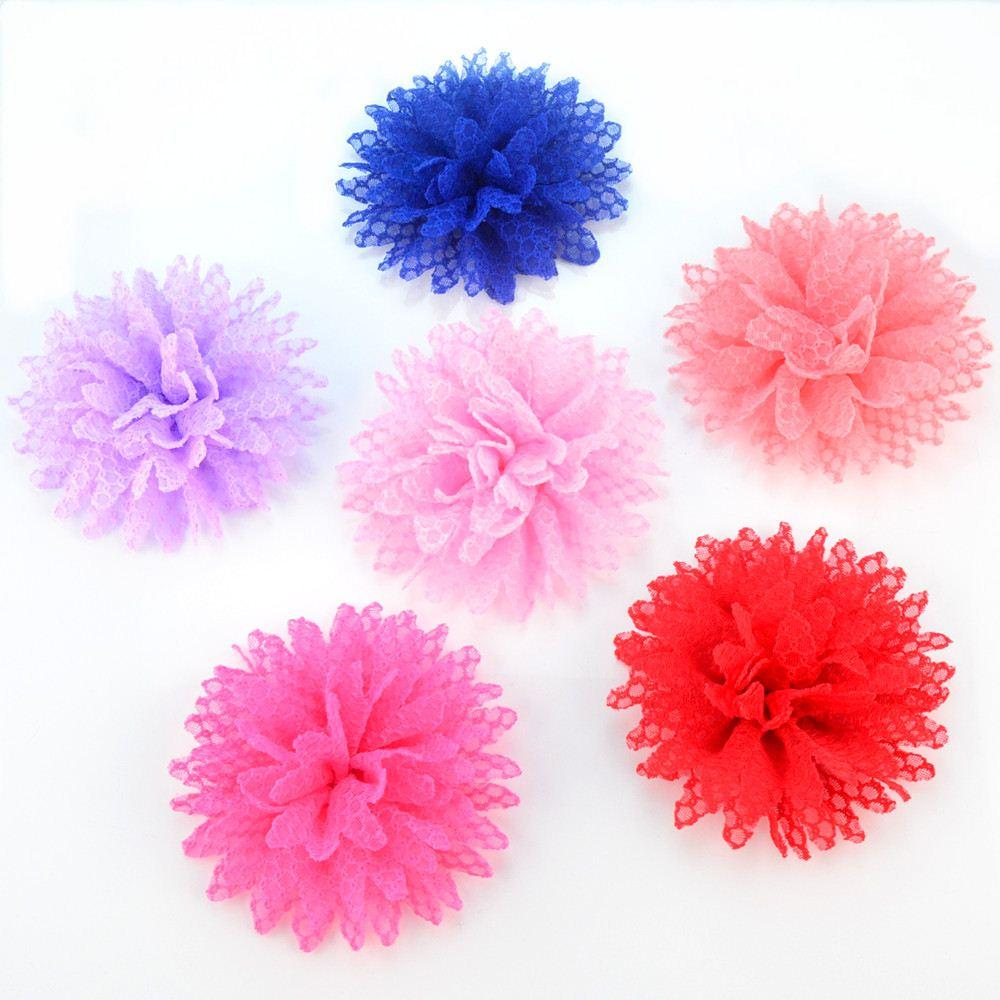 New Lovely headdress lace sunflower clothing accessories girls Headdress flower for Hair band 60pcs/lot Free Shipping MHC06