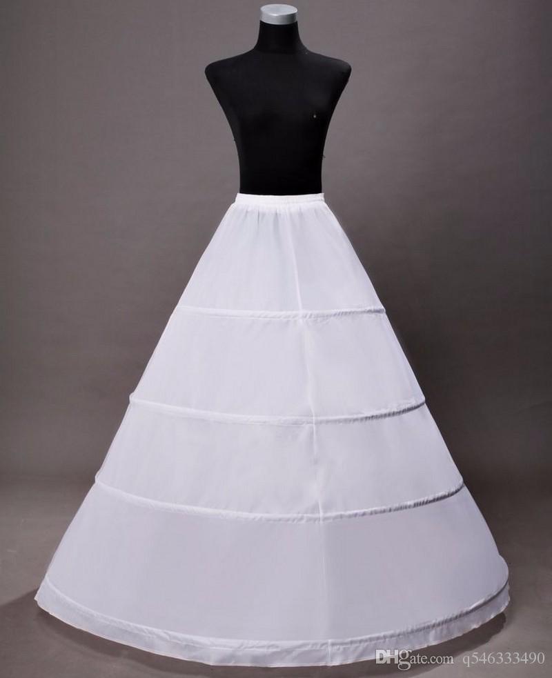 Sottogonne a cerchio lungo per abiti da sposa Sottogonna donna 2016 crinolina bianca jupon sottogonna