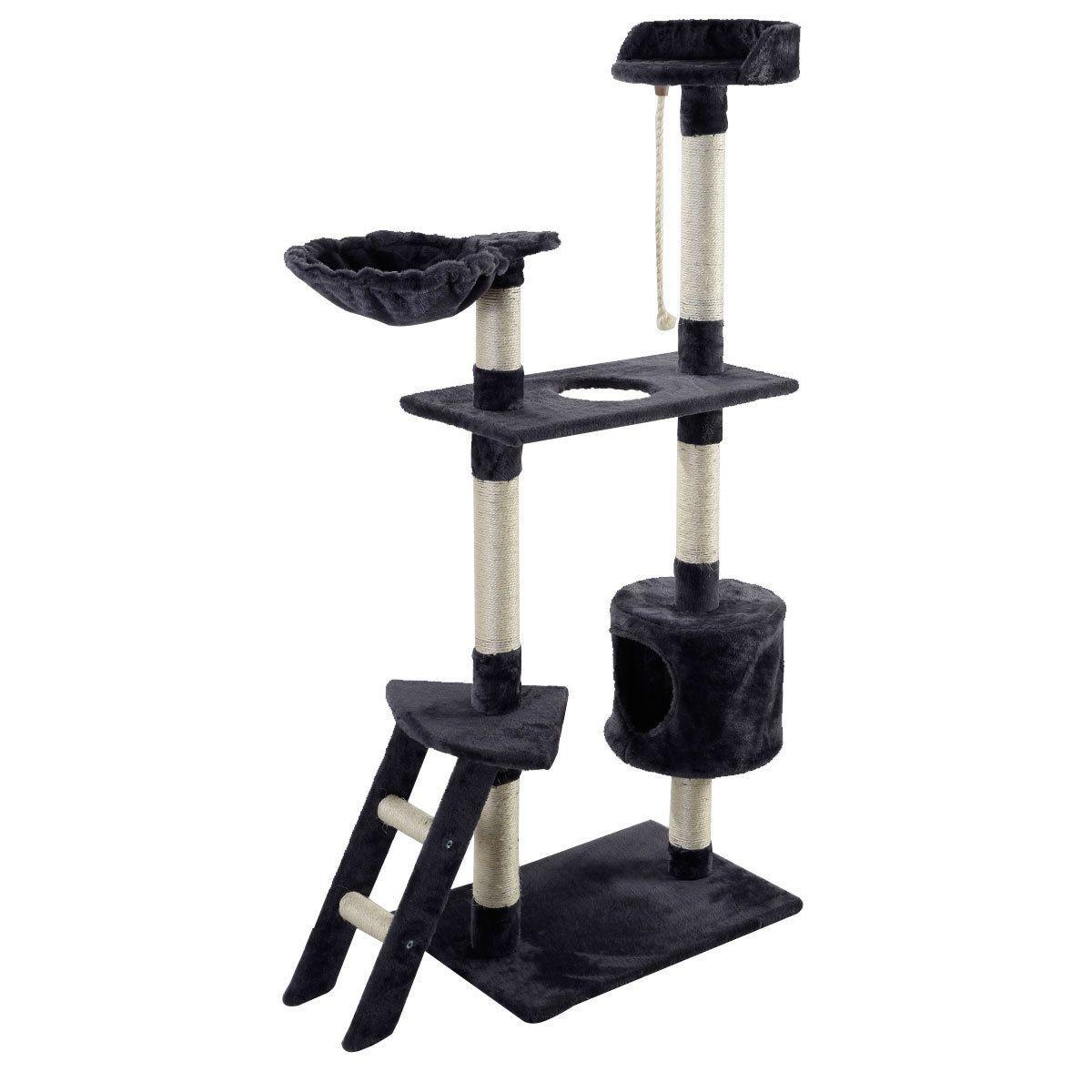"""Nouveau 60"""" Cat arbre Tower Condo Scratcher Meubles Kitten Pet Maison Hamac Gris"""