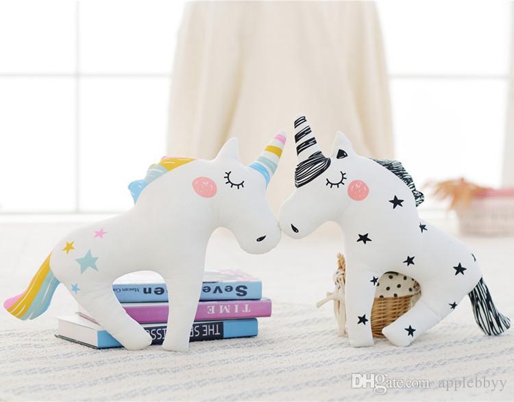 INS decorative unicorn toy Plush Toys pillow photo children's room layout pony doll Plus Animals wholesale free shipping