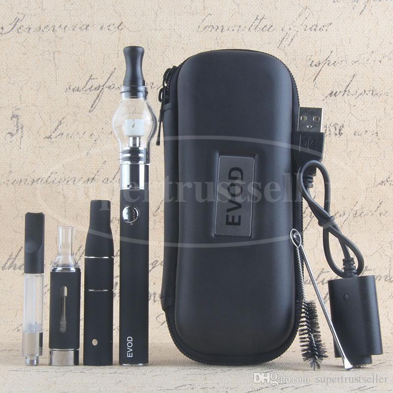 Glass Globe Wax Oil Cartridge MT3 Tank Ago G5 Dry Herb Vaporizer 4 in 1 Vape Pen Starter Kit eGo Case