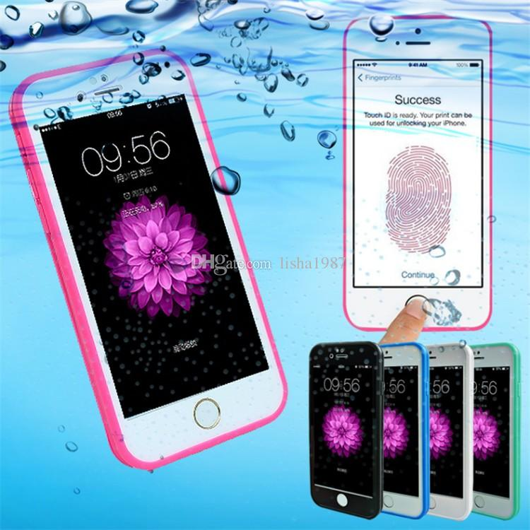 For Iphone 7 7PLUS Waterproof Case TPU Rubber Full Boday Cover For iphone 6s plus 5 5s Shock-proof Dust-proof Underwater Diving Cases