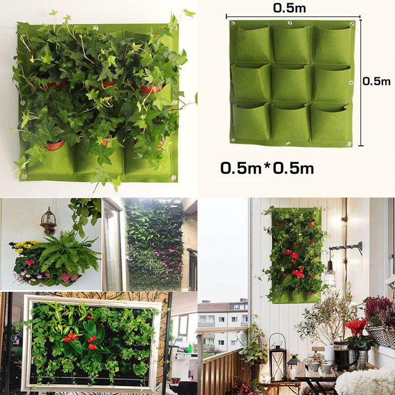 2020 New Indoor Outdoor Wall Hanging Garden Planter Vertical Felt
