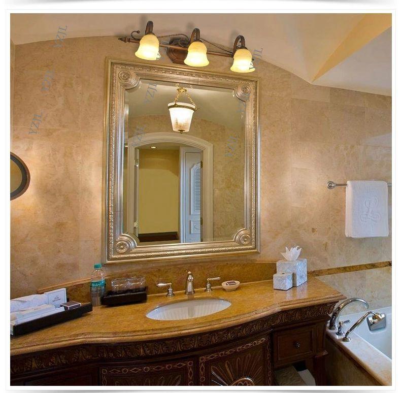 Compre Europeo LED Espejo Americano Lámpara Delantera Lámparas De Baño  Cuarto De Baño Espejo Tocador Tocador Iluminación De Espejo A $155.78 Del  ...