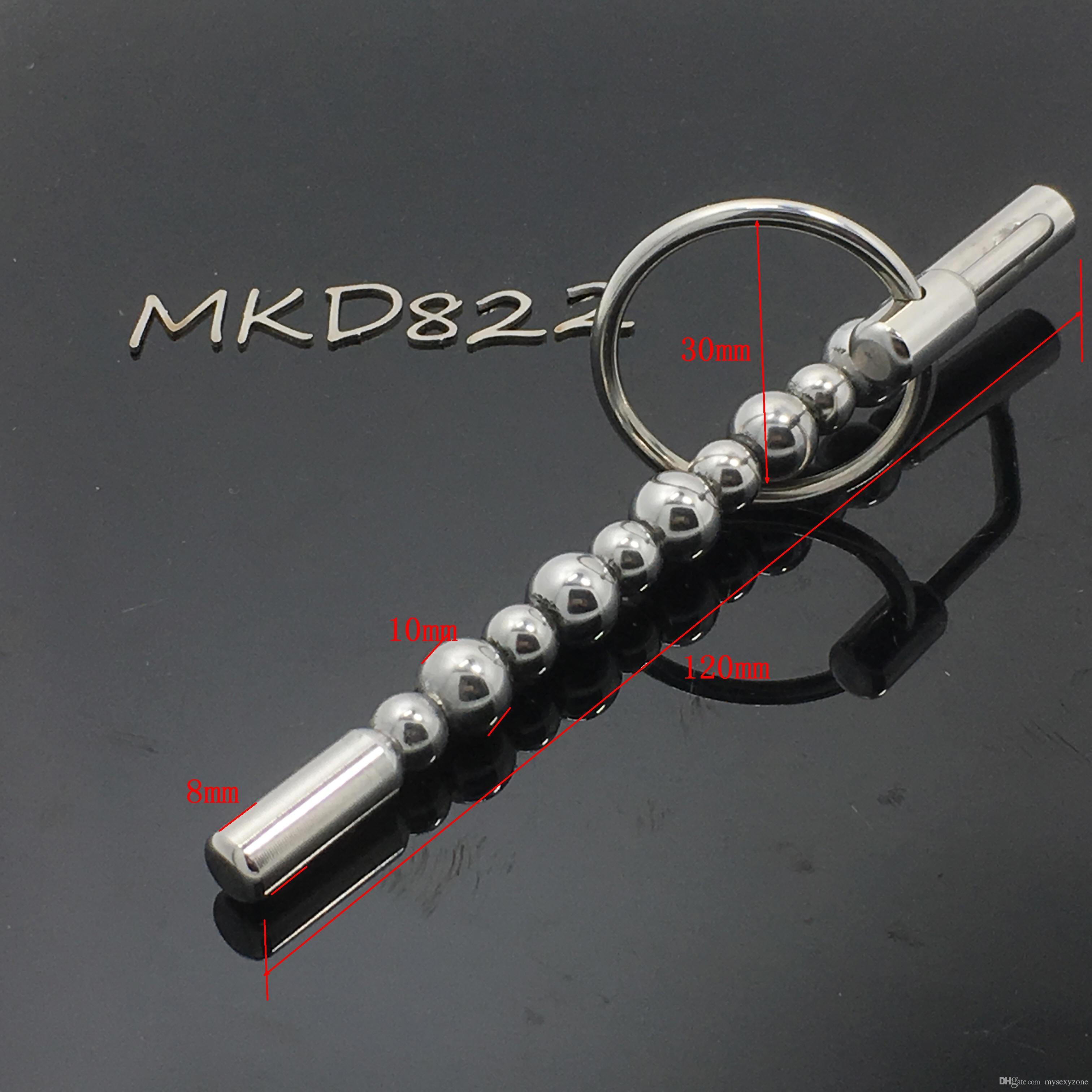 Нержавеющая сталь выскакивают пузыри уретры звуки уретры пенис штекер звучание секс-игрушки звук CBT игрушки уретры мастурбация для взрослых продукты MKD822