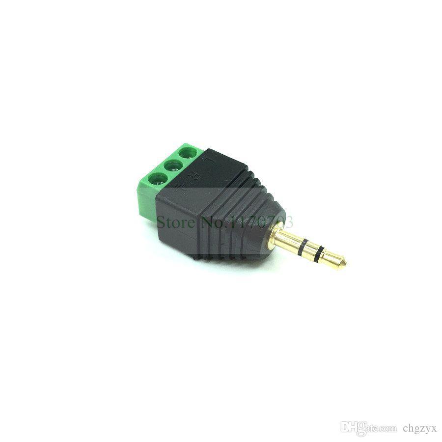150 PCS Coax Cat5 zu Stereo 3,5 mm Stecker CCTV Kamera Audio Balun Stecker