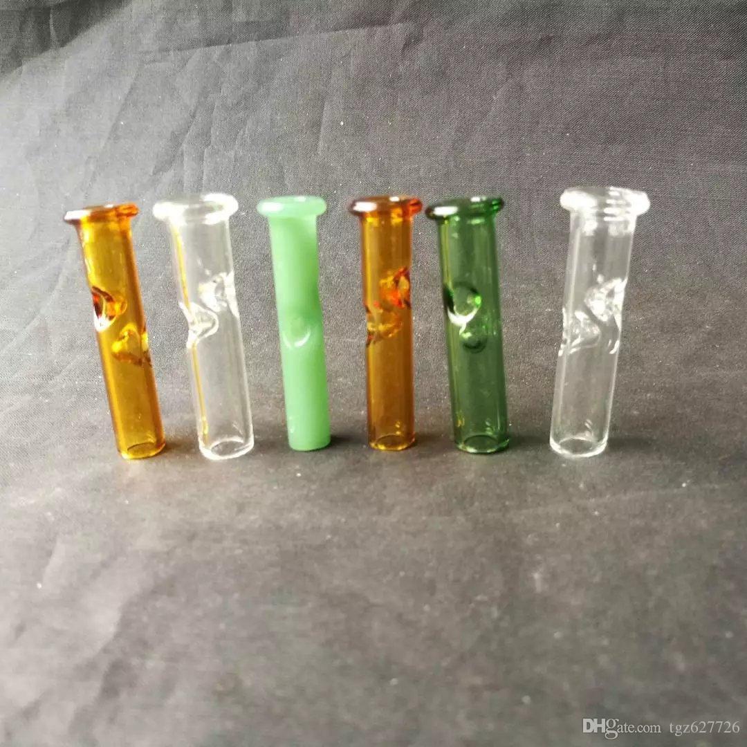 Accessori per bong in vetro di aspirazione, tubi per il fumo in vetro colorato mini tubi multi-colori per mani
