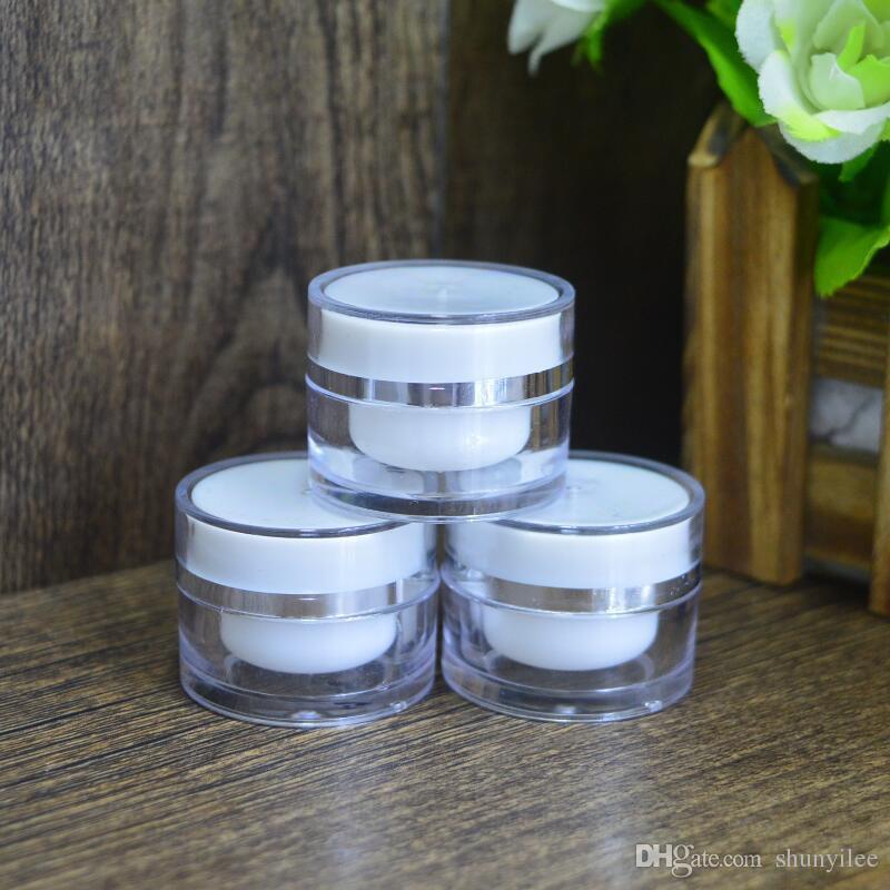 Contenitori in vasetto di plastica per trucco in plastica 5G, contenitore cosmetico vuoto, vaschette per nail art, vasetto per crema MINI F20171224