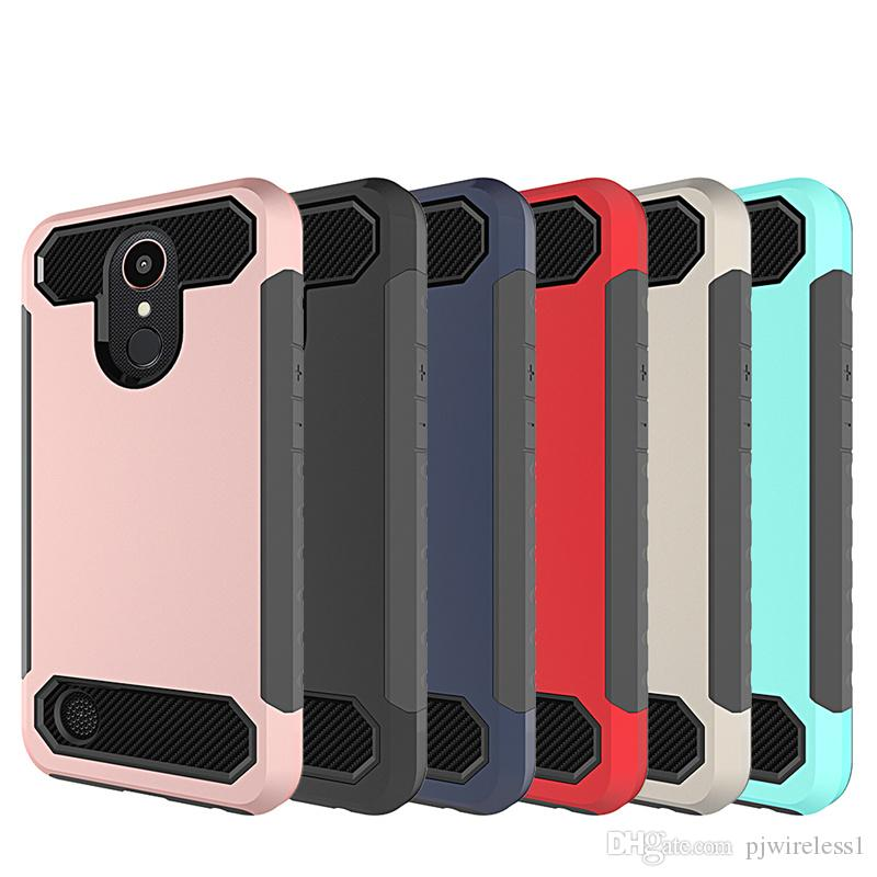 Hybrid Armor Case For Iphone 6s 6 Plus Lg Lv5 K20 Plus Aristo Metropcs Lv3 V3 Ms210 Carbon Fiber Tpu Pc Back Cover B Custom Cell Phone Case Cute Cell Phone Cases From