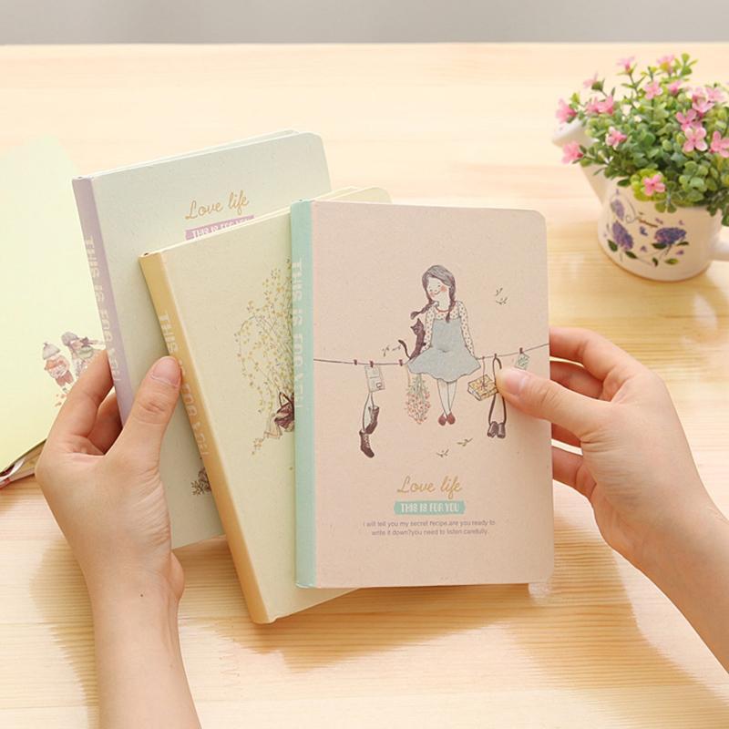 Großhandels-Agenda 2017 Original Korea Cute Forest Mädchen Hardcover Notebook Periodische Planer Sketchbooks Journal Notebooks Tagebuch Filofax
