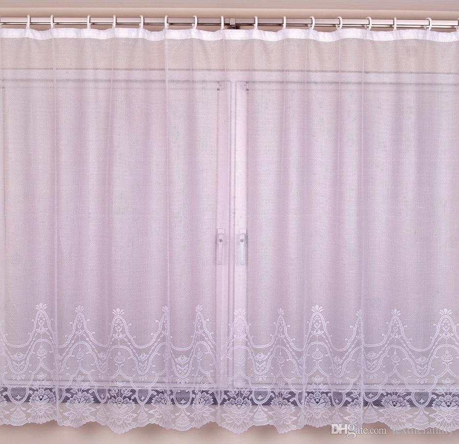 폴 리 에스테 르 레이스 커튼에 대 한 큰 창 커튼 레이스 베이 커튼에 대 한 새로운 패션 침실 우아한 커튼