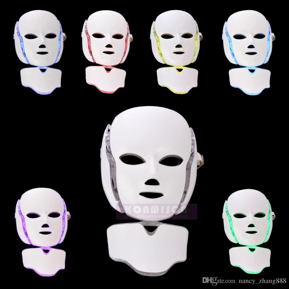 2017 Korea LED Lichttherapie Maske hautverjüngung LED Schönheit Gesichtsmaske 7 Farben Led Gesichtsmaske