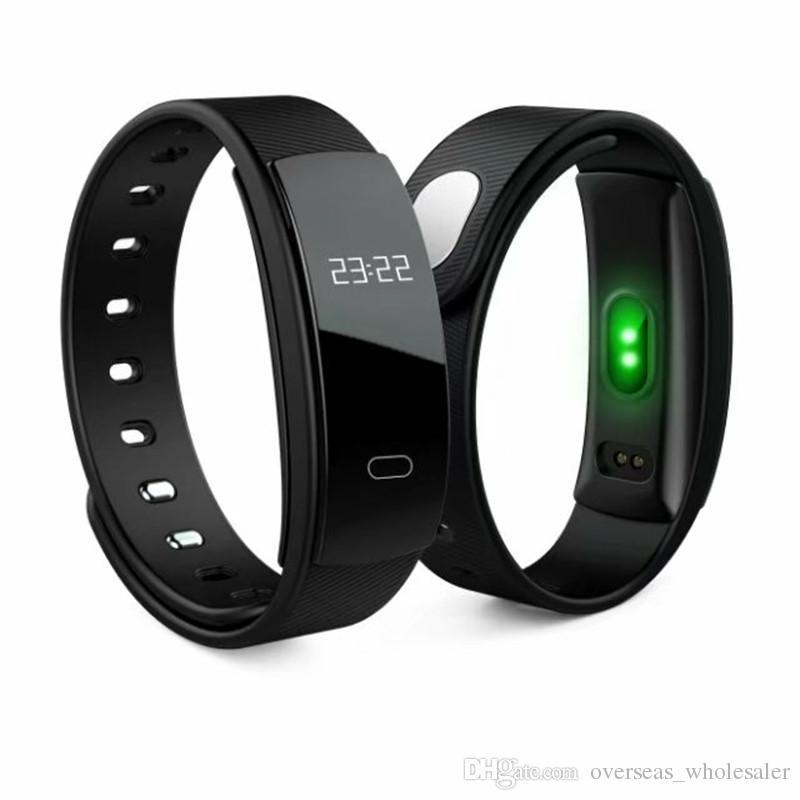 QS80 Smart Armband Blutdruck Armband Herzfrequenz Fitness Schlaf Messen Wasserdichte Anrufverfolgung für Android iOS Iphone Telefon pk Miband