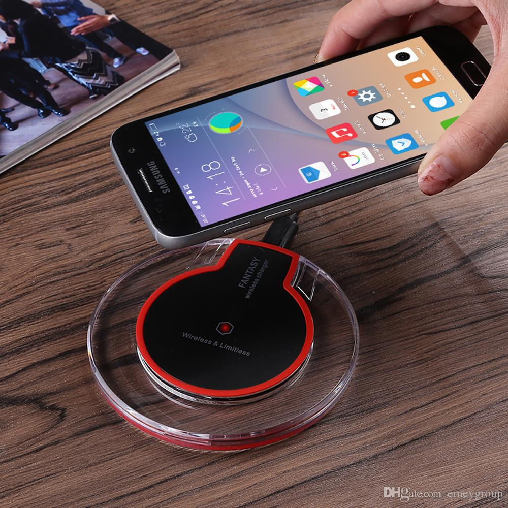 Universal K9 Qi Wireless Charger Original Charging Pad + Receiver For Samsung S7 S6 edge s8 plus Note 5 Wireless Charging For iPhone 8 5S 7