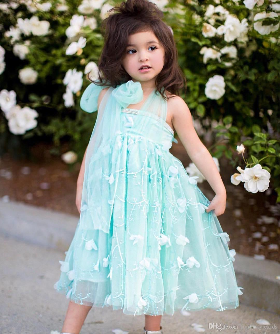 2018 Top Quality Children Lace Wedding Dress Baby Girl Suspender ...