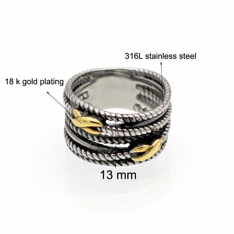2021 Venda Anillos Novos Anéis de Aço Inoxidável Retro para Mulher Marca Jóias Tailândia Anéis Anéis Fit Pandora Charm