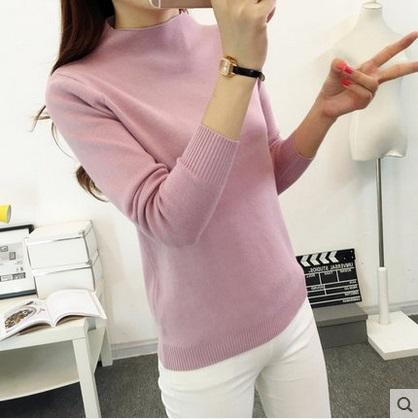 2017 New Arrival Fashion Female Sweater Women Spring Knitted Pullovers Long Sleeve Slim Sweaters