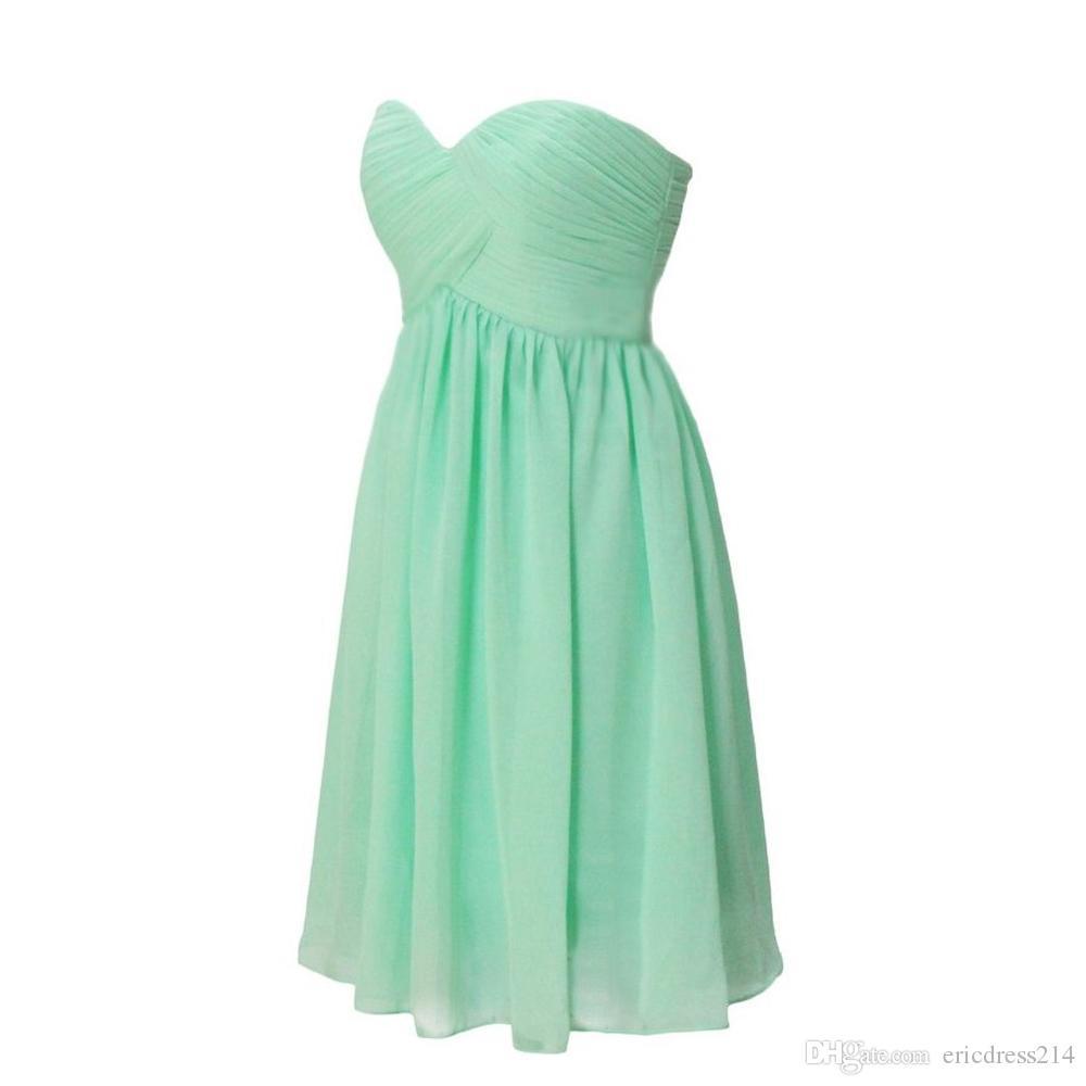 Mint green short chiffon bridesmaid dresses under 50 knee length mint green short chiffon bridesmaid dresses under 50 knee length party gowns cocktail dresses ombrellifo Gallery