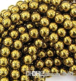 i341 10mm Good Hematite Loose ball Beads Shamballa Findings Fit DIY Bracelet Bead for bracelet hotsale DIY Findings Jewelle e2521 w62