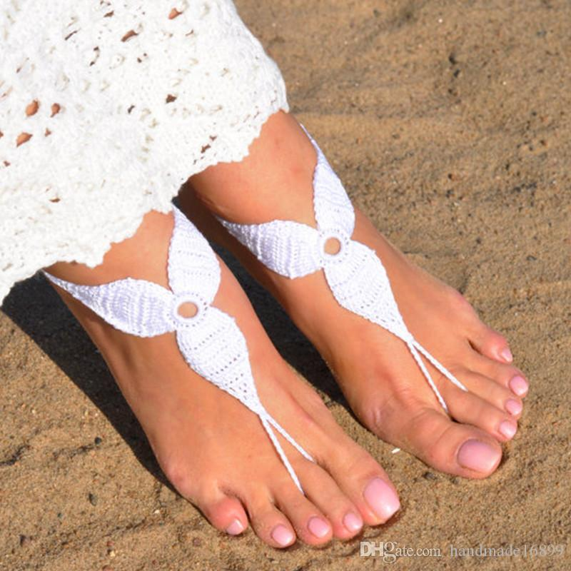 1 Pair OR 2 PCS Crochet Blue Barefoot Sandals, Foot jewelry, Bridesmaid gift, Barefoot sandles, Beach, Anklet, Wedding shoes, Beach Wedding