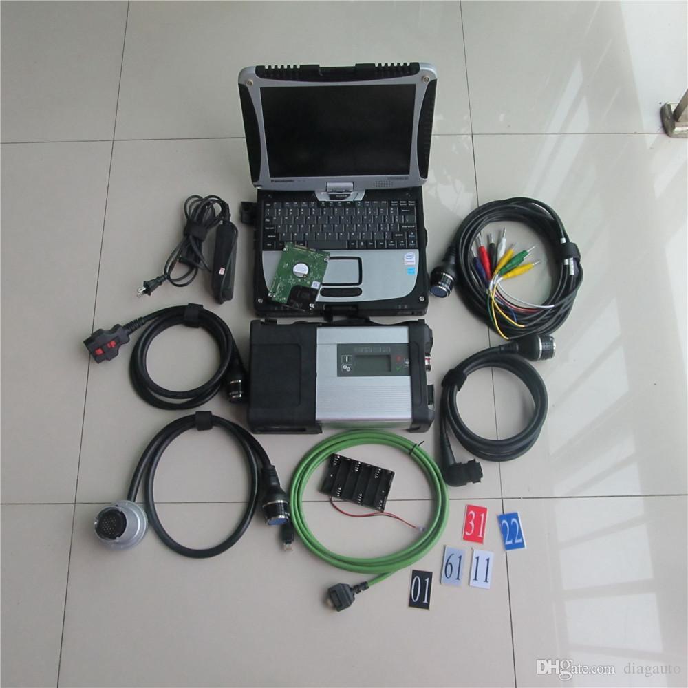 2017 nouvelle arrivée diagnostic outil MB STAR C5 CONNECT SD dernière v2017.09 avec 320gb hdd prêt à travailler 3g portable Toughbook CF-19