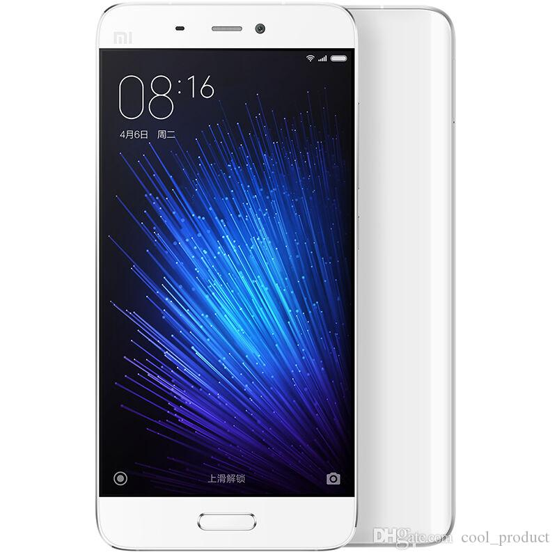 """Oryginalny Xiaomi MI5 MI 5 4G LTE Telefon komórkowy 32 GB / 64 GB ROM 3 GBB RAM Snapdragon 820 Quad Core 5.15 """"FHD 16.0mp ID FingerPrint Telefon komórkowy NFC"""