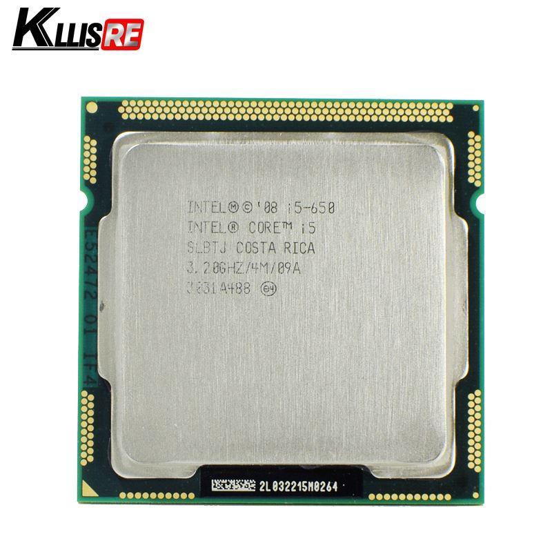 Procesador Intel Core i5 650 3.2 GHz 4MB Socket de caché LGA1156 32nm 73W CPU de escritorio
