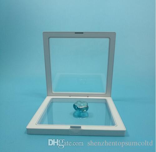 50 stks schaar elastische membraan sieraden display box horloge display box suspenderende doos 140 * 140 * 20mm