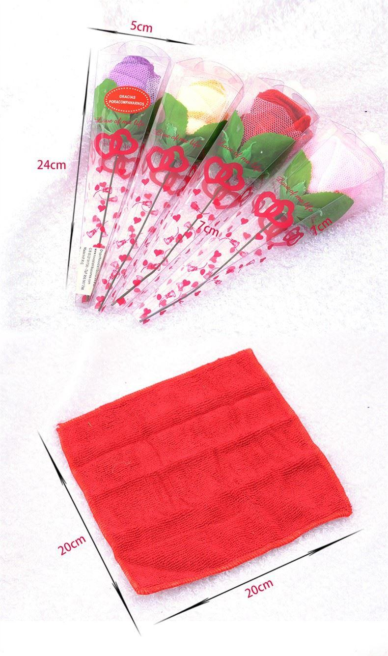 wedding towel ice cream rose flower hand towel for wedding table centerpieces decoration (21)