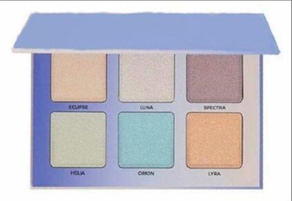 Бесплатная доставка ePacket! Новый макияж лица Румяна порошок румяна палитра 6 цвет