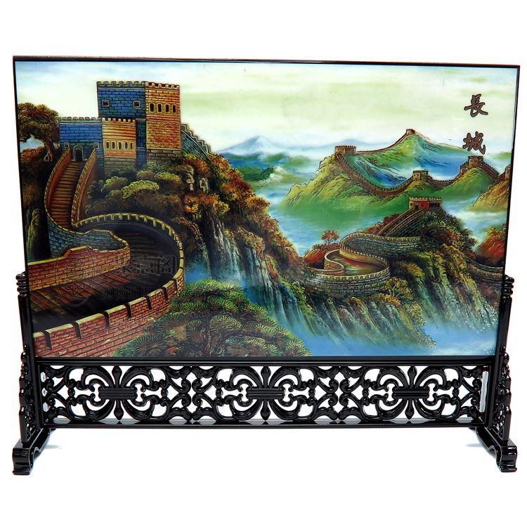 Posta articoli in legno di legno, schermo, tavolo, vento cinese, regalo di affari, conferenza, mostra, souvenir, regalo di affari esteri