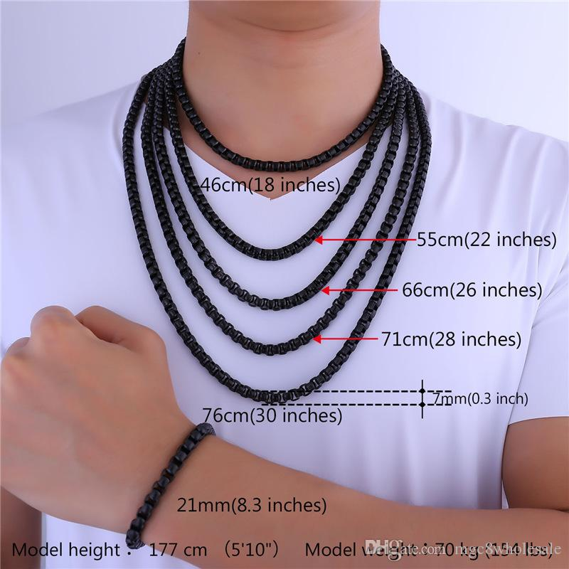 b105737616a05 Top 10 Punto Medio Noticias | Necklace Chain Size Men's