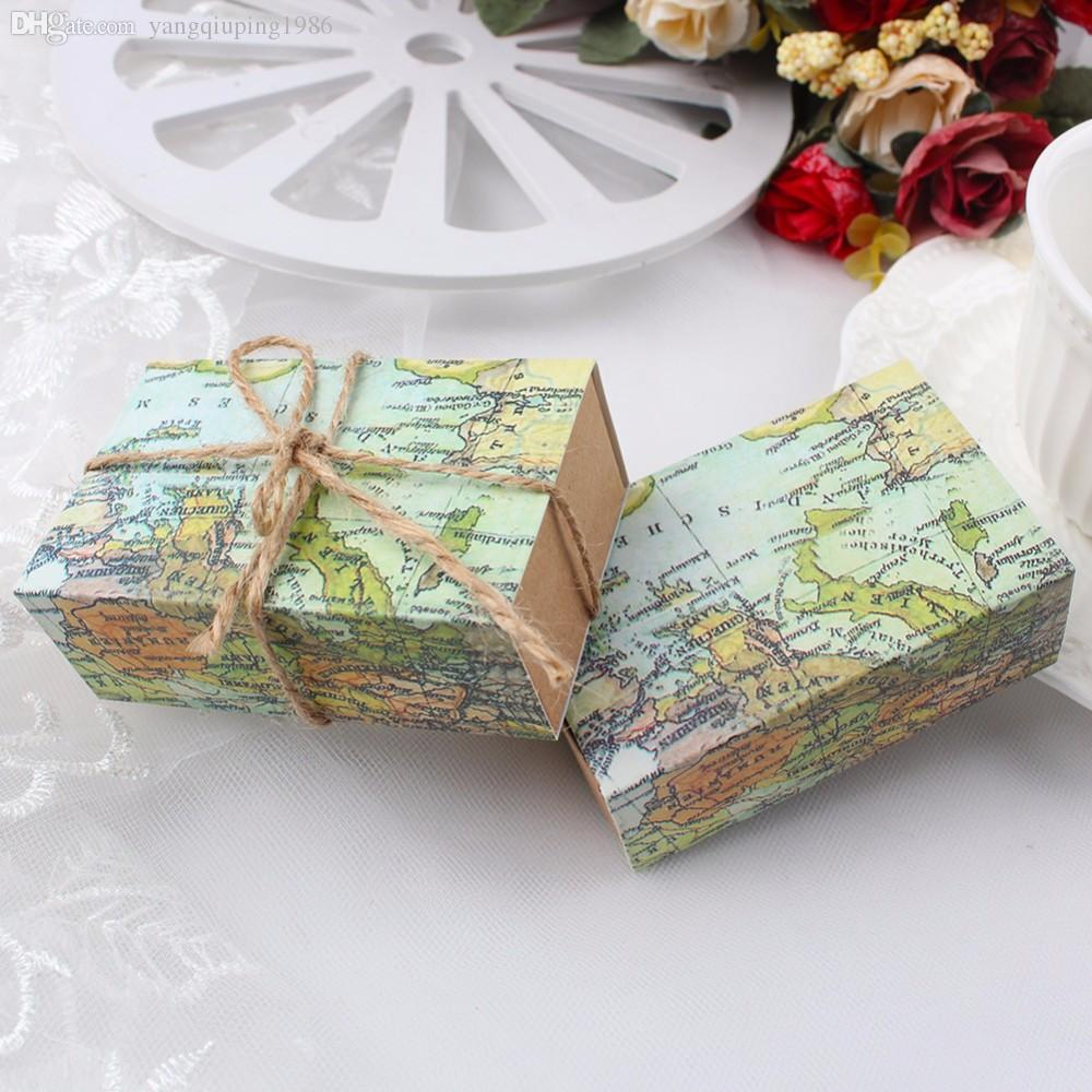 Novelty world map gift box for christmas decorations kraft paper how to make your gift beautiful is a serious question have you ever met the situation that your gift wrap gumiabroncs Gallery