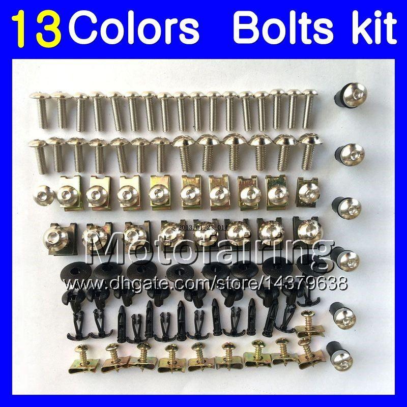 Kit de vis pour carénage complet pour YAMAHA XJ6R 09-12 XJ 6R XJ6 R XJ 6 R 09 10 11 12 2009 2010 2011 Corps Ecrous Kit de boulons écrous 13Couleurs