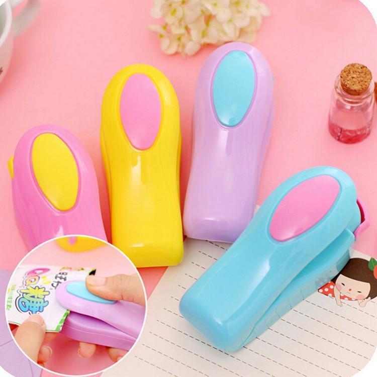 Portable household colour mini sealing machine hand pressure heat Snacks color plastic bags sealing machine