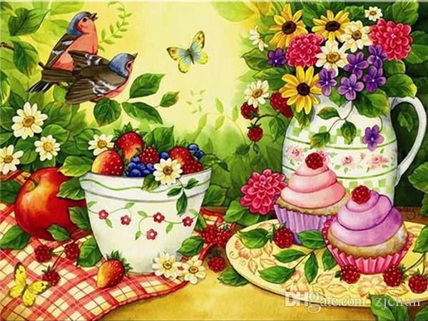 5d oya diy elmas boyama çapraz dikiş kitleri tam reçine yuvarlak elmas nakış mozaik ev dekor çiçek porselen y0004