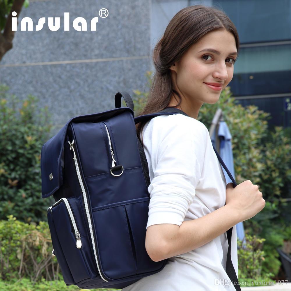 الجملة Insular 210D Waterppof نايلون حفاضات الطفل قدرة كبيرة على ظهره الأم حقيبة الأزياء حقيبة Nyppy