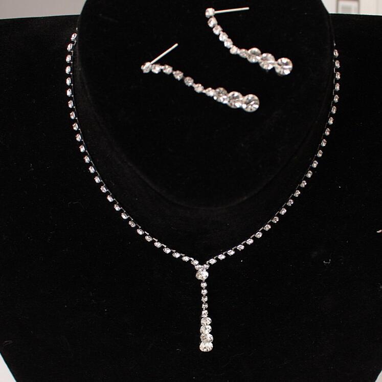 Colar brincos conjunto 2 peças terno NEW Fashion Jóias Para Mulheres acessórios de Moda moda corrente de suspensão Colar de artesanato frete grátis