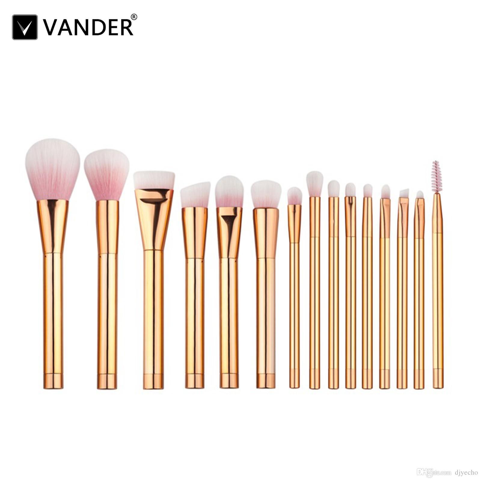 VANDER 15Pcs Kit de pinceaux de maquillage professionnel