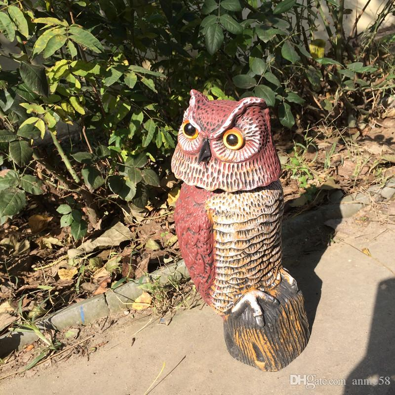 ... ZILIN Factory Wind Action Owl Decoy/plastic Rotating Head Owl/garden  Ornament And ...