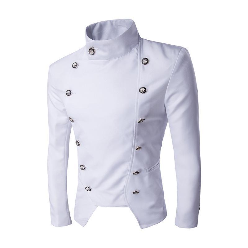 Atacado- Jackets Man 2016 Chaquetas Stage Roupa Suit Jacket Blazer Masculino noivo Abotoamento Moda Slim Fit Mens hombre 2016