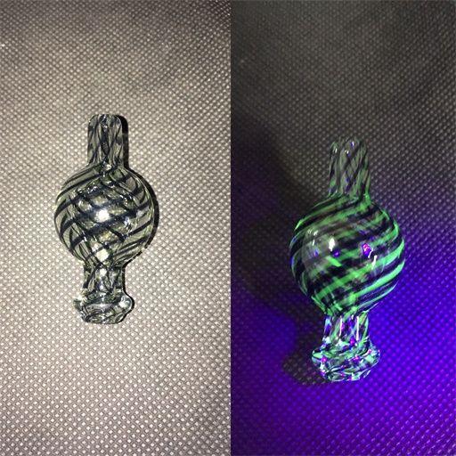 FGHCLORED Стеклянная пузырьковая шапочка с отверстием на верхнем кварцевом термическом пансированном гвозде, гласил полированный сустав E-Nail