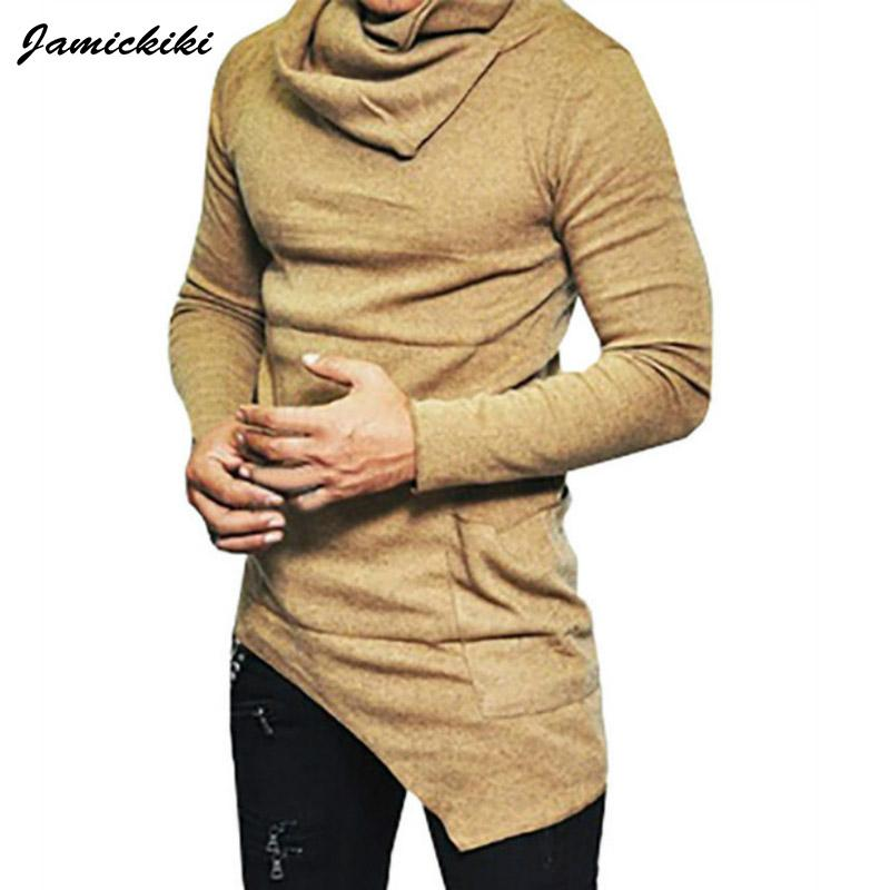 Vente en gros- Jamickiki Mens Europe Style Pile Col Tops 2017 Hip Hop Manteau Hoodies Mode Sweats À Manches Longues Hommes XXXXXL